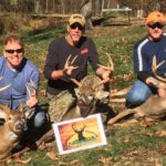 A trio of bucks taken on the opening morning of rifle season