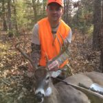 Another nice 8 point buck from tree stand 13